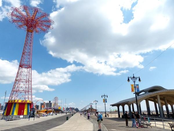 Riegelmann Boardwalk Coney Island Brooklyn New York USA