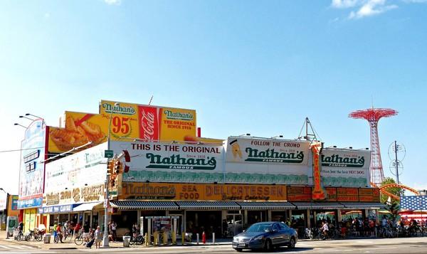 Nathan's Famous Coney Island Brooklyn New York USA