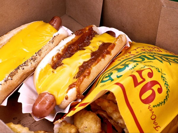 Hot Dogs Nathan's Famous Coney Island Brooklyn New York USA