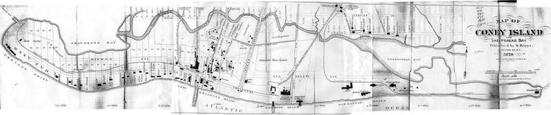 Plan de Coney Island en 1879