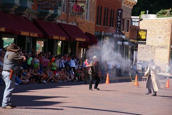 Gunfight sur Main Street Deadwood