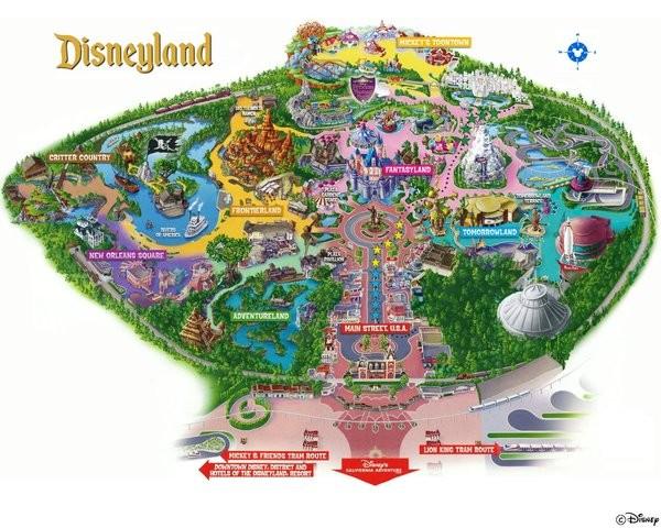 Plan Disneyland Los Angeles