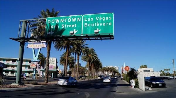 Panneau indicateur Downtown Las Vegas