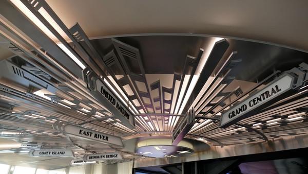Plafond d'orientation 2nd floor exhibit observatoire Empire State Building