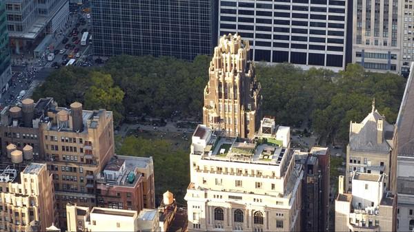 Bryant Park vu depuis la terrasse de l'Empire State Building