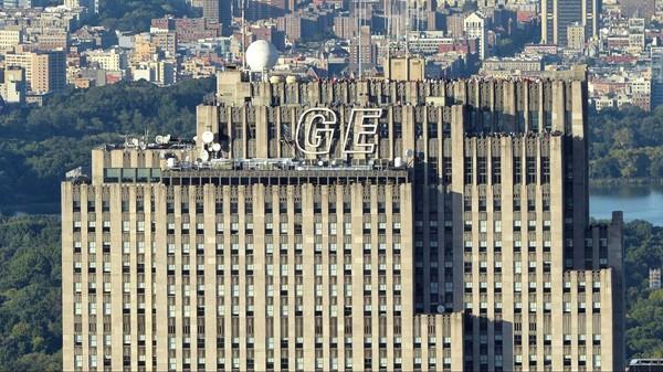 Vue sur le Top of the Rock depuis la terrasse de l'Empire State Building