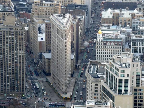 Flatiron Building vu depuis la terrasse de l'Empire State Building