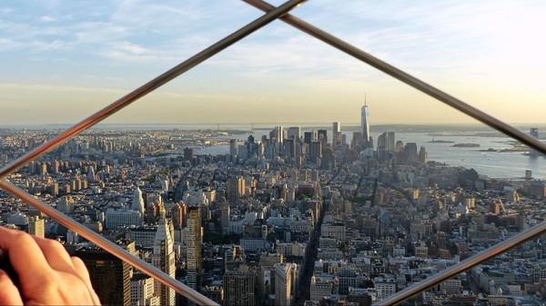Vue vers le Sud de Manhattan de l'observatoire de l'Empire State Building