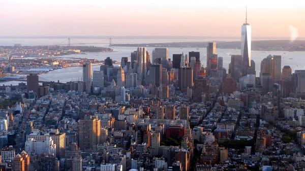 Vue sur Manhattan depuis l'observatoire top deck de l'Empire State Building