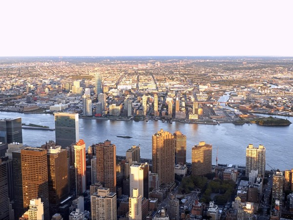 Vue sur l'Hudson River et le New Jersey depuis l'observatoire top deck de l'Empire State Building