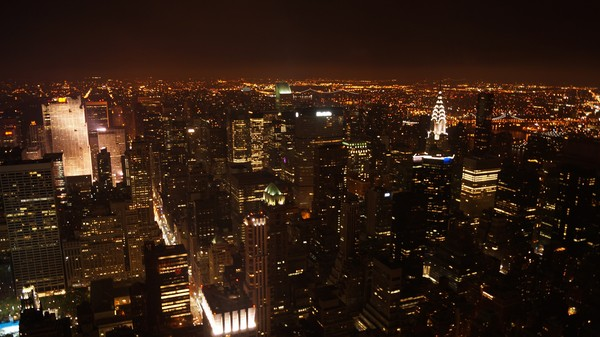 Manhattan depuis l'Empire State Building de nuit