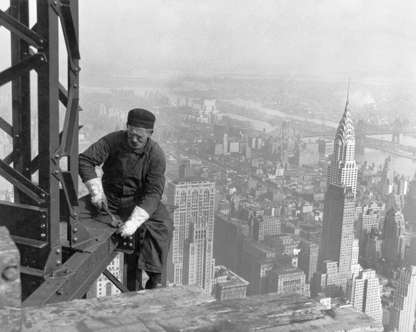 Ouvrier chantier Empire State Building 1930