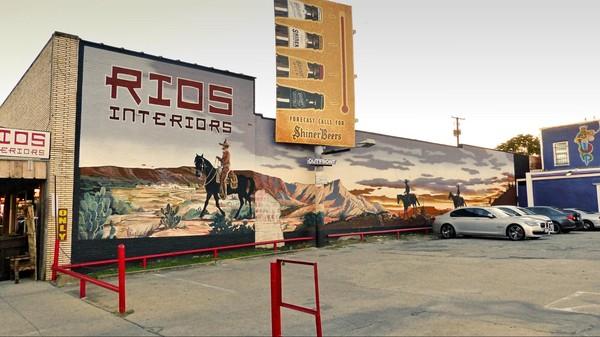 Fresque murale Main Street Stockyards Fort Worth Texas