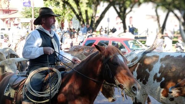 Cowboy quartier des Stockyards Fort Worth Texas