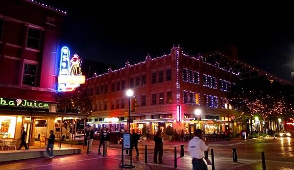 De nuit Downtown Fort Worth Texas