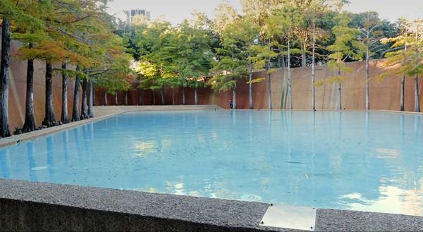 Bassin bleu de la méditation Water Gardens Downtown Fort Worth Texas