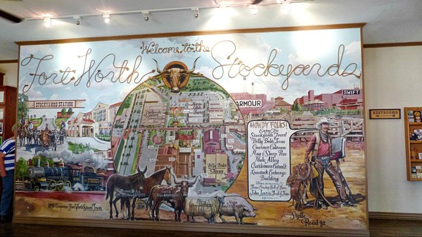 Fresque Stockyards Visitor Information Center Fort Worth Texas
