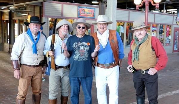 Cowboys gunfights Stockyards Station Fort Worth Texas