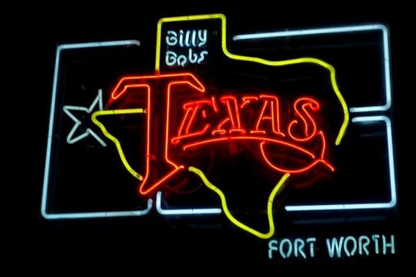 Enseigne néon Billy Bob's Texas Fort Worth Texas