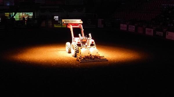 Avant le début du show Stockyard Championship Rodeo Fort Worth Texas