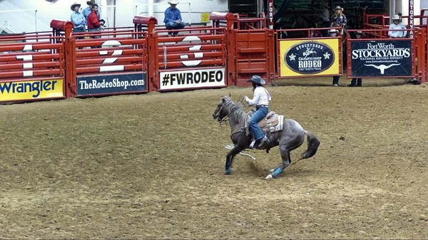 Épreuve féminine Stockyard Championship Rodeo Fort Worth Texas