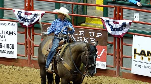 Jeune champion Stockyard Championship Rodeo Fort Worth Texas