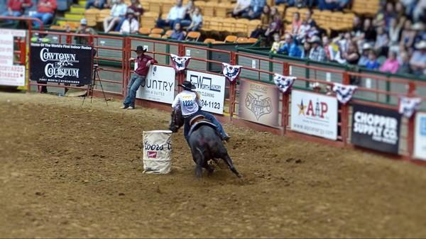 Barrel Racing Stockyard Championship Rodeo Fort Worth Texas
