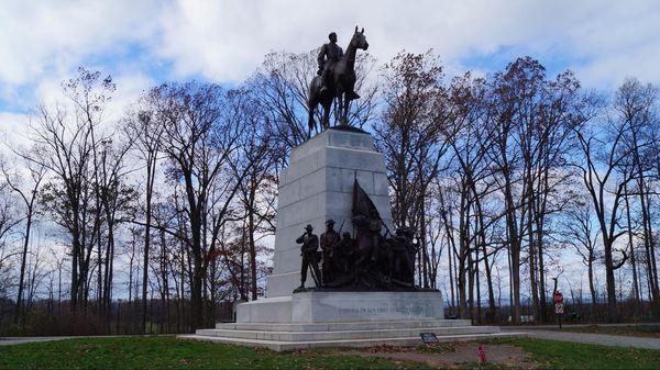 Virginia Memorial (arrêt n°5) National Military Park Gettysburg Pennsylvanie