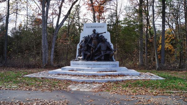 State of Alabama Monument (arrêt n°7) National Military Park Gettysburg Pennsylvanie