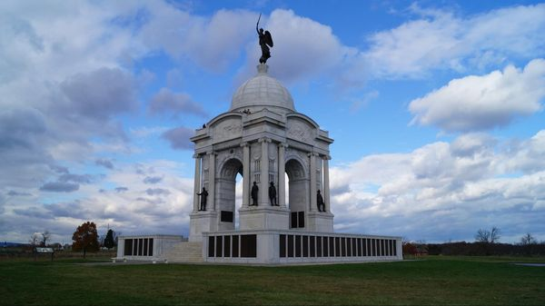 Pennsylvania Memorial (arrêt n°12) National Military Park Gettysburg Pennsylvanie