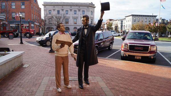 Statue d'Abraham Lincoln à Wills House Gettysburg Pennsylvanie