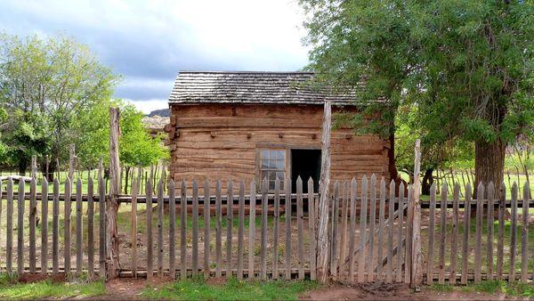 La maison Russell en rondins Grafton Ghost Town