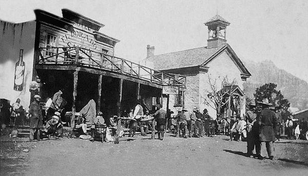 Sur le tournage de In Old Arizona Grafton Utah
