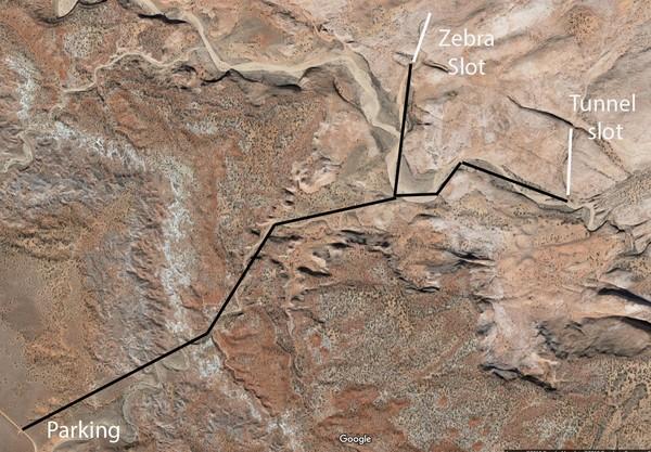 Accès Zebra Slot & Tunnel Slot Canyons Hole in the Rock Road Utah