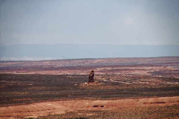 Chimney Rock vu depuis la Fortymile Ridge Road