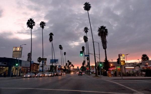 Crépuscule Sunset Boulevard Los Angeles