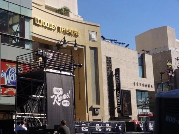 Dolby Theatre avec estrade Jimmi Kimmel