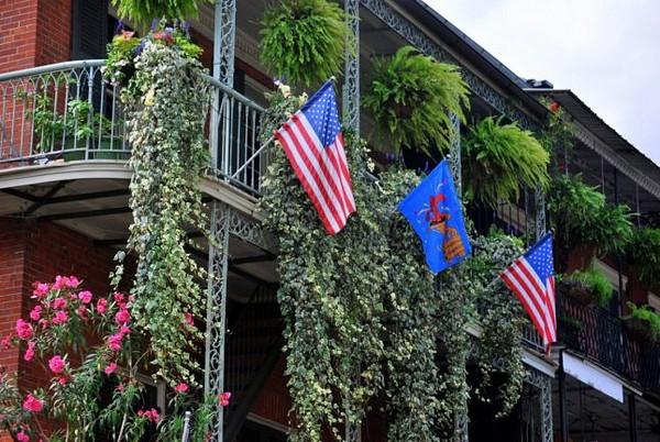 Balcon sur Bourbon Street la Nouvelle Orléans Louisiane