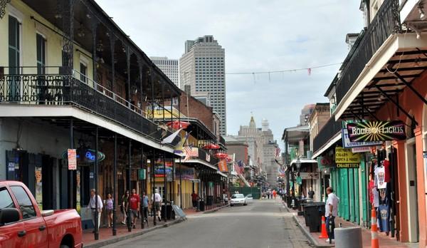 Contraste architectural La Nouvelle-Orléans Louisiane