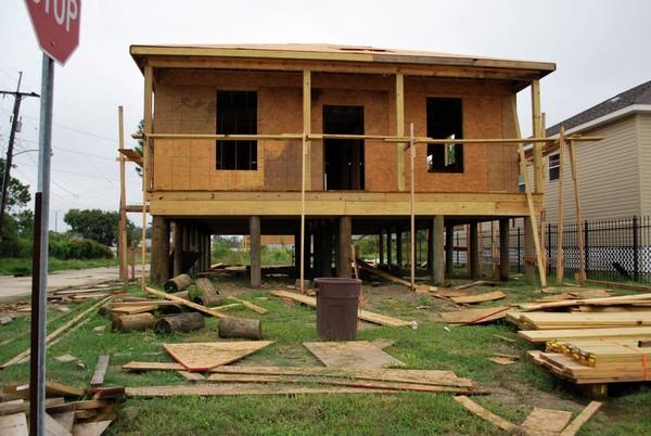 Maison en reconstruction après le passage de l'ouragan Katrina La nouvelle-Orléans Louisiane
