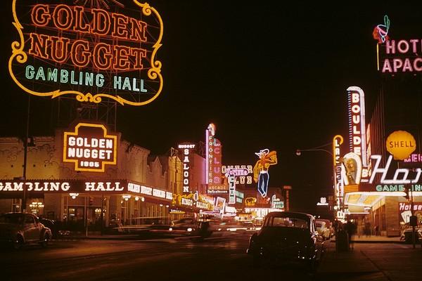 Fremont Street en 1952 Las Vegas