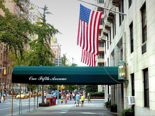 Début de la 5th Avenue à Greenwich Manhattan New York