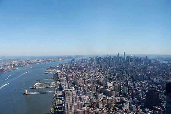 Vue sur Manhattan depuis le One World Trade Center New York