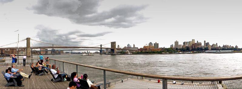 East River Waterfront Esplanade South Street Seaport Manhattan New York