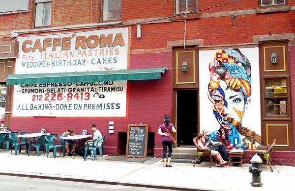 Hommage à Audrey Hepburn murals Little Italy New York