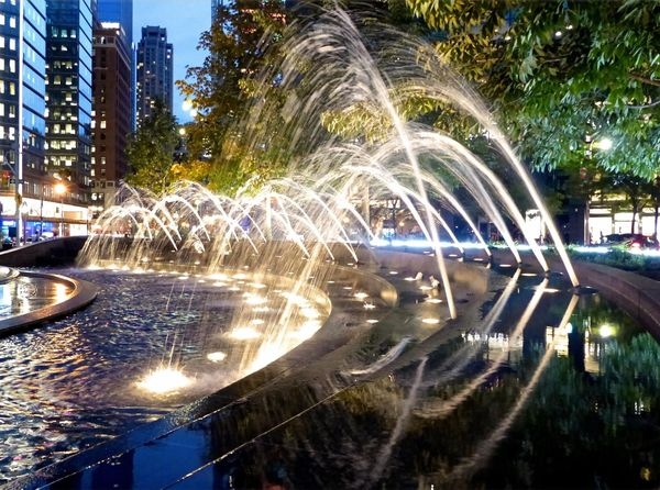 Fontaine de Columbus Circle New York