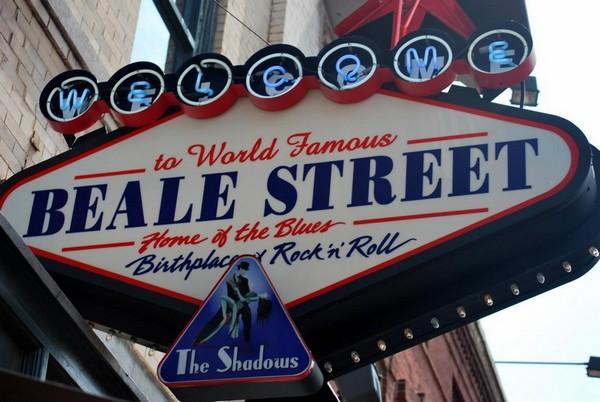 Panneau Beale Street Memphis