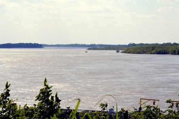 Vue sur le Mississippi depuis le Chickasaw Heritage Park