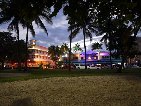 Ocean drive by night Miami Beach