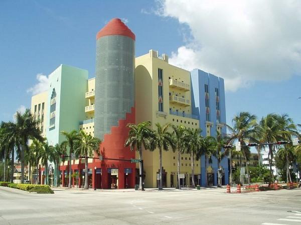 Architecture colorée Miami Beach